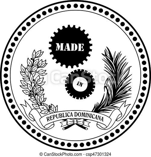 symbole, industriel, république, dominicain, fait - csp47301324