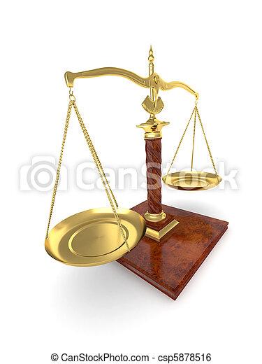 symbole, justice., scale., 3d - csp5878516