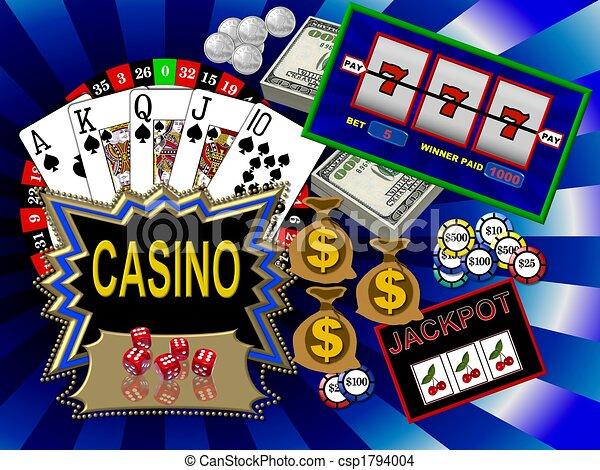 symbole, kasino - csp1794004