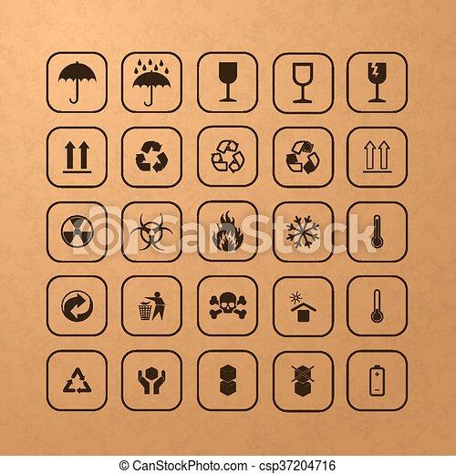 Symbole, ladung, satz, schwarz. Ladung, verschieden, satz ...