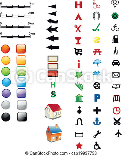 Symbole Landkarte
