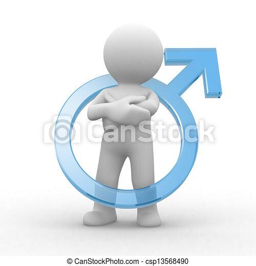 symbole, mâle - csp13568490
