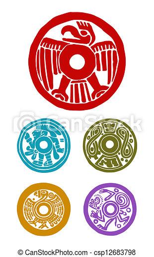Maya Symbole Tiere