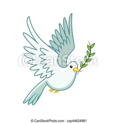 Bien connu Vecteur de symbole, paix, pigeon csp44624981 - Recherchez des Clip  SN41