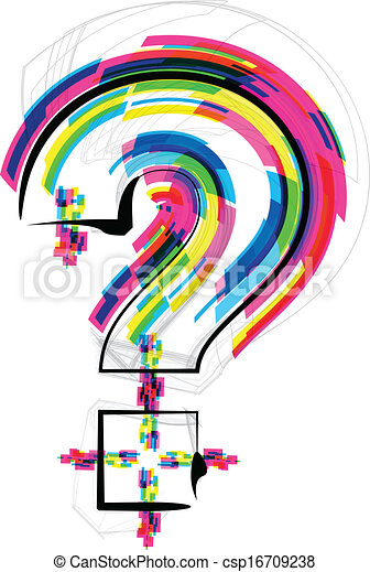 symbole, police, question, illustration., marque - csp16709238