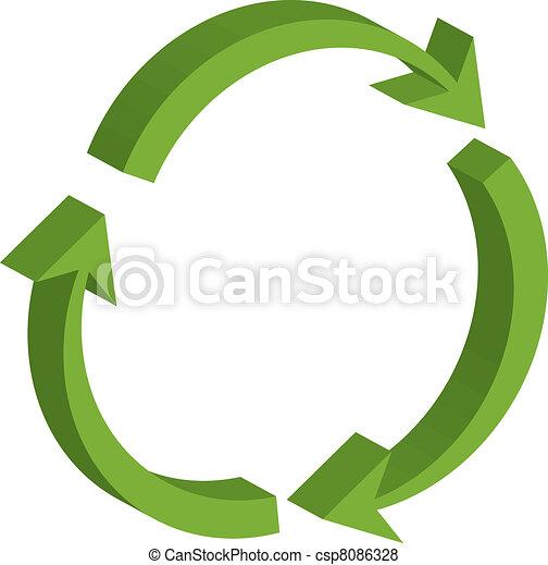 symbole, recyclage - csp8086328