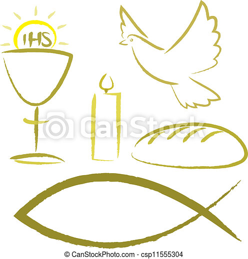 Vektor Clipart Von Symbole Religioses Kommunion Koerper