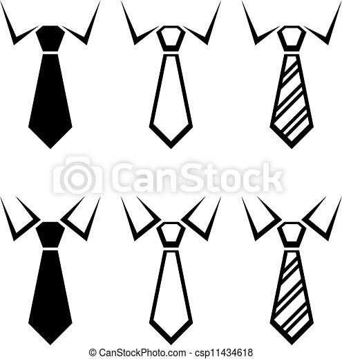 Symbole schlips vektor schwarz - Cravate dessin ...