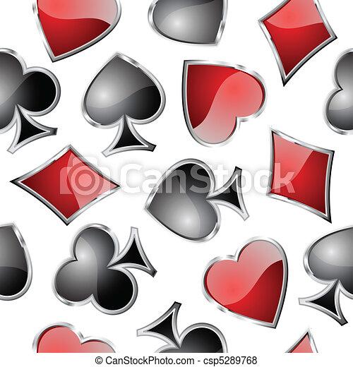 symbole, spielen karte, seamlessly. - csp5289768
