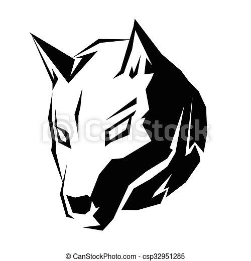 Symbole, tête, chien. Ceci, tête, symbole, chien
