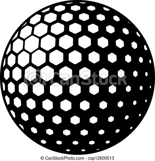 symbole, vecteur, balle golf - csp12600513