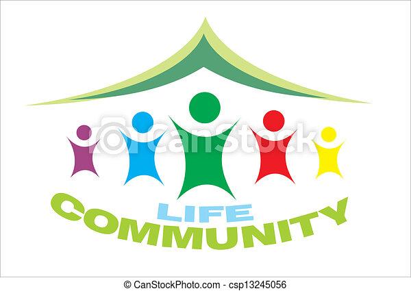 symbole vie, communauté - csp13245056