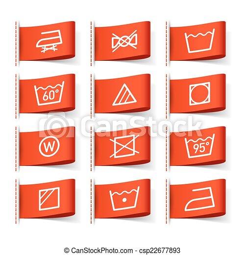 symbole w sche etiketten kleidung symbole kleidung. Black Bedroom Furniture Sets. Home Design Ideas