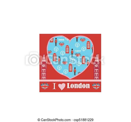 Londoner Wahrzeichen - csp51881229