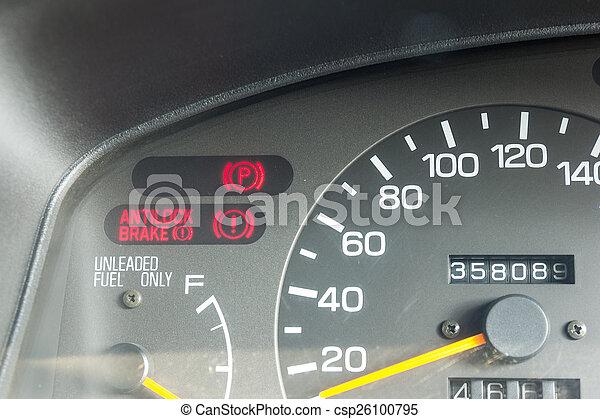 Symbolen Auto Waarschuwend Dashboard Lichten Auto Het Tonen