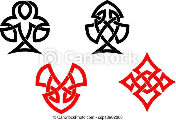 symbolen, keltisch, pook, stijl, kaart - csp10962868