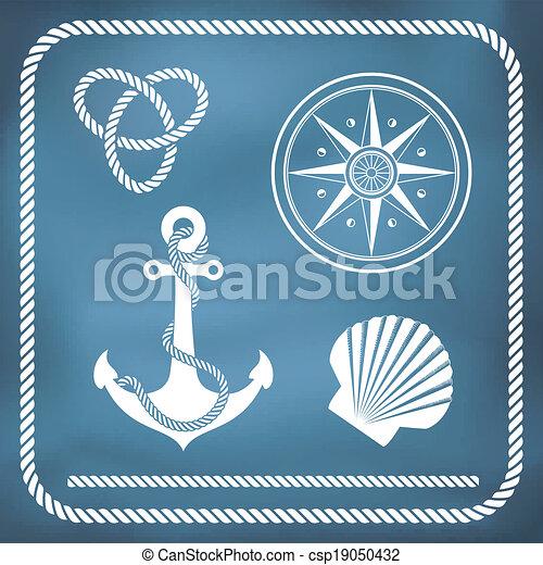symbolen, nautisch - csp19050432