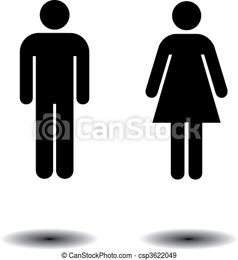 symbolen, toilet - csp3622049