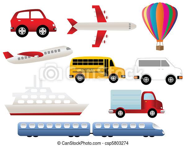 symbolen, vervoer - csp5803274