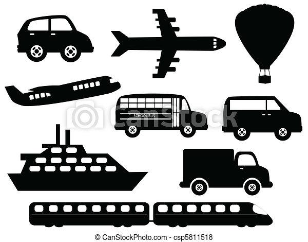 symbolen, vervoer - csp5811518