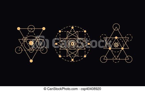 Symboler Alkymi Geometri Hellige 40408920 on Geometri Shapes English