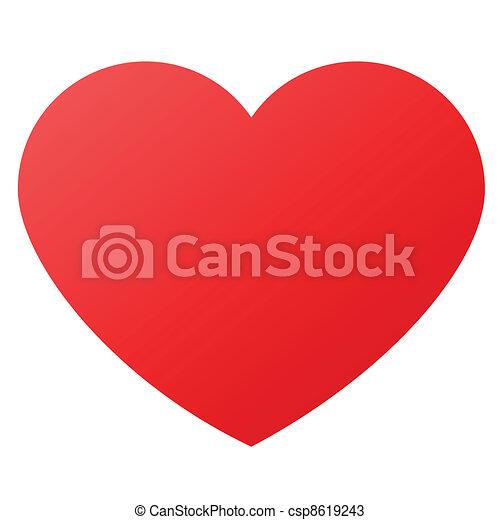 symboler, hjärta gestalta, kärlek - csp8619243