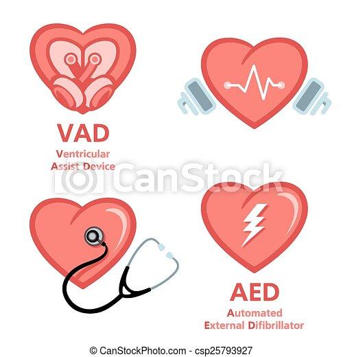 symboler, hjerte, omsorg - csp25793927