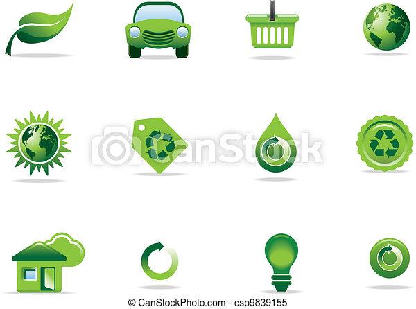 symboler, nät ikon - csp9839155