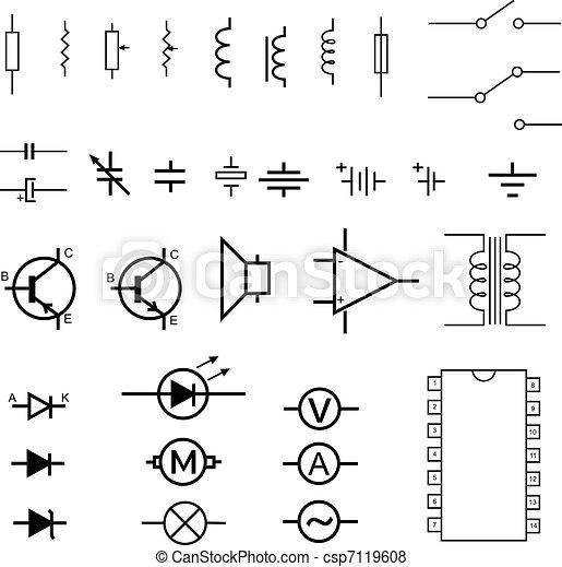 symboles, électronique - csp7119608