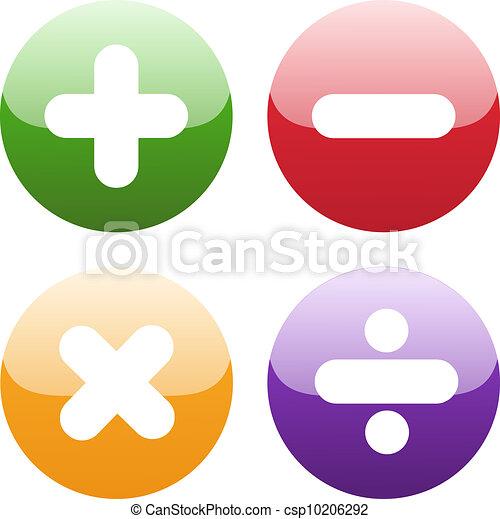 symboles, blanc, math - csp10206292