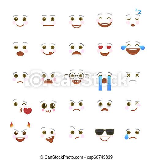 symboles, comique, emoji, bavarder, internet - csp60743839