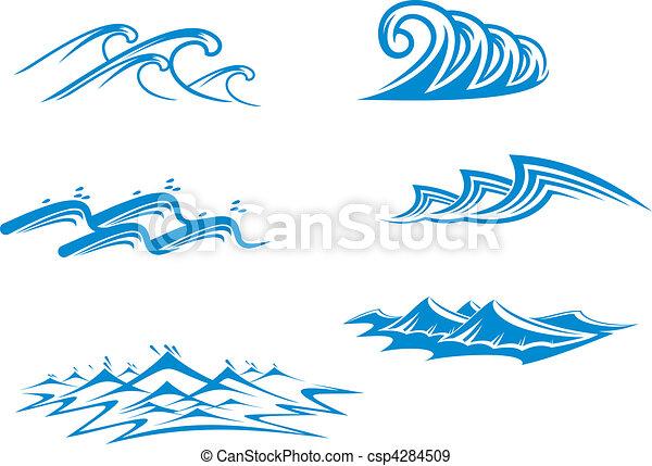 symboles, ensemble, vague - csp4284509
