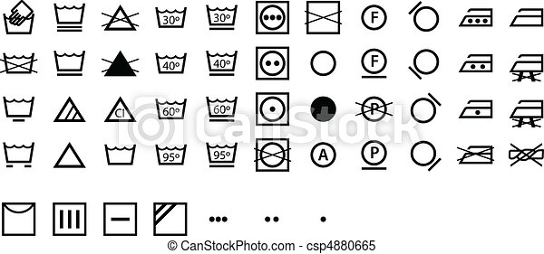 symboles, international, lessive - csp4880665