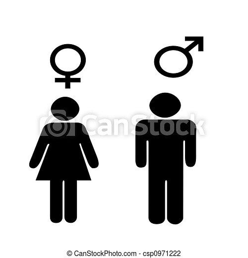 symboles, mâle, illus, femme - csp0971222