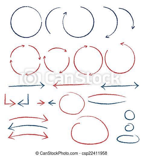 symboles, manuscrit - csp22411958