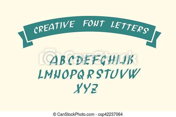 symboles, police, caractère, manuscrit - csp42237064
