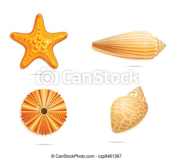 symboles, résumé, ensemble, mer jaune - csp8461367