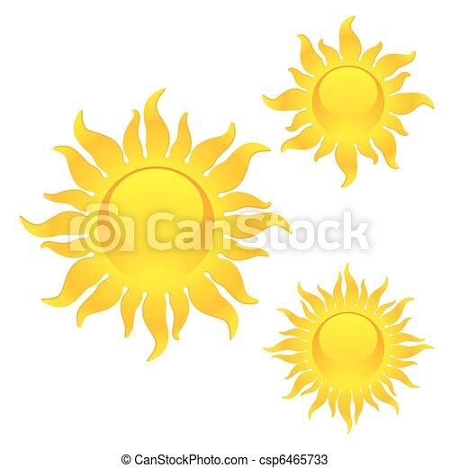 symboles, soleil brille - csp6465733