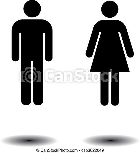 symboles, toilette - csp3622049