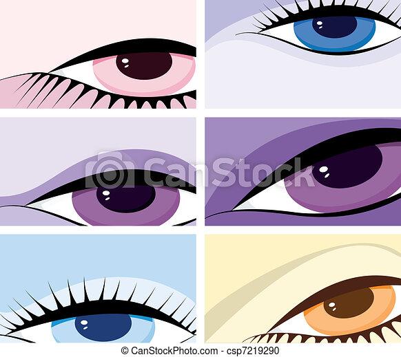 symbolic image of the eyes - csp7219290