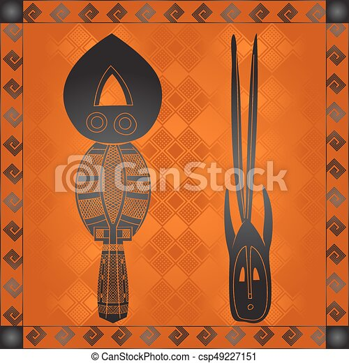 symbolika, krajowy, kulturalny, afrykanin - csp49227151