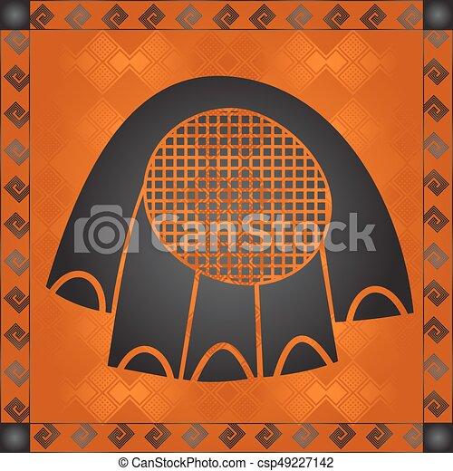 symbolika, krajowy, kulturalny, afrykanin - csp49227142