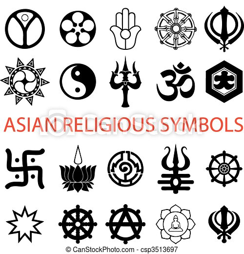symbolika, różny, religijny - csp3513697
