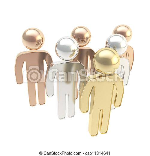 symbolique, six, figures, humain - csp11314641