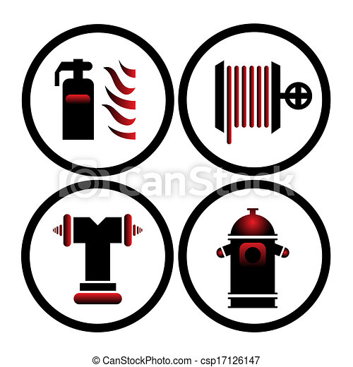 Fire Prevention Logo Vector Clipart Vector Illustration