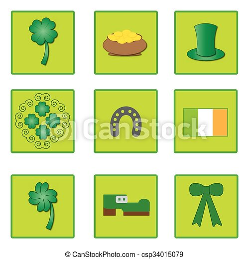symbols for St. Patrick's day - csp34015079
