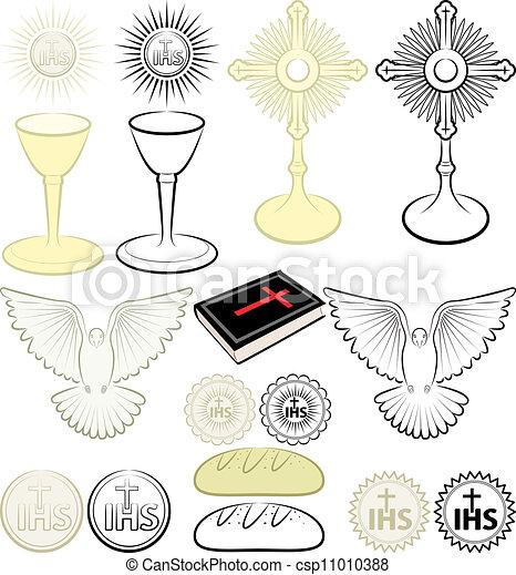 symbols of Christianity - csp11010388