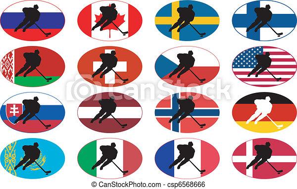 symbols of hockey nations - csp6568666