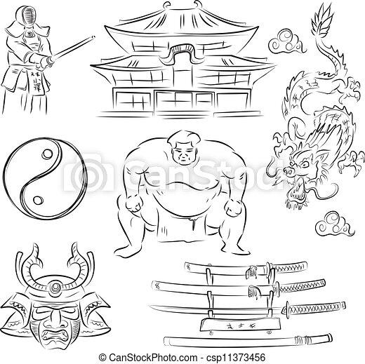 symbols of Japan - csp11373456