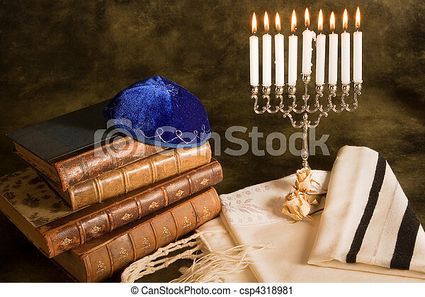 Symbols of judaism - csp4318981